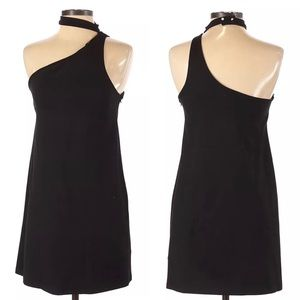 Zara TRF One Shoulder Black Cocktail Dress Small